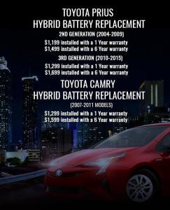 Hybrid Battery Replacement Cost